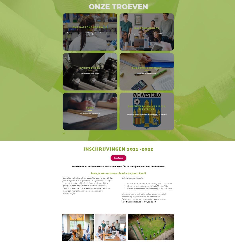 voorbeeld nieuwe site